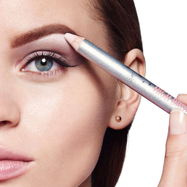 brow highlighter eye lift trick